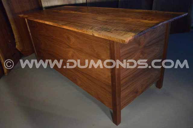 Custom Reclaimed Walnut Three Drawer Desk