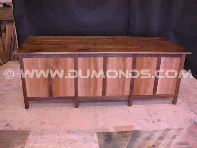 Custom Walnut and Sycamore Custom Credenza