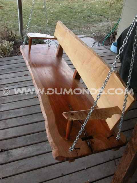Rustic cherry porch swing bench
