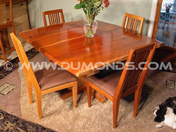 walnut crotch live edge table