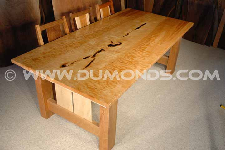 quilted maple custom table