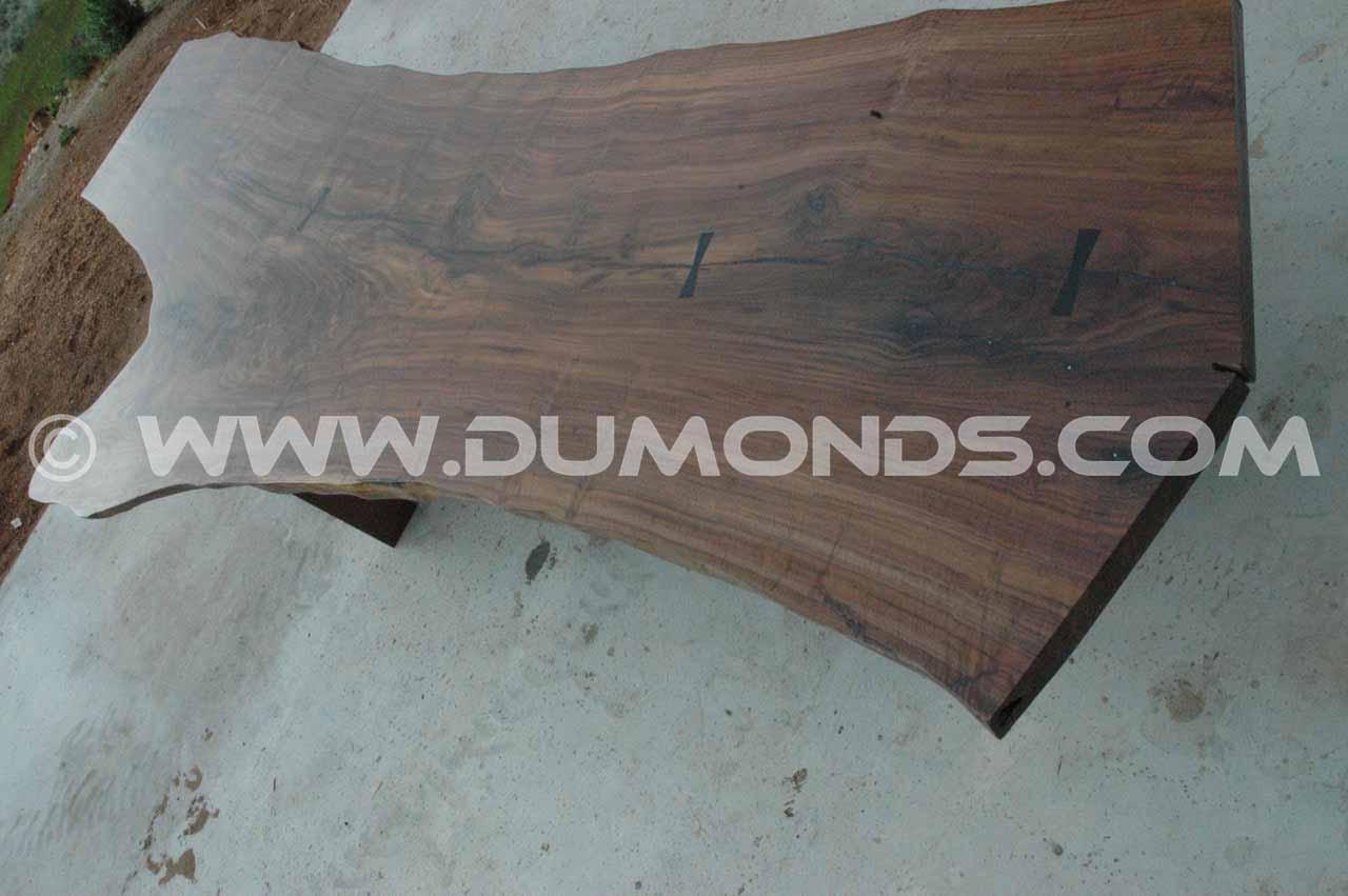 walnut slab conference table