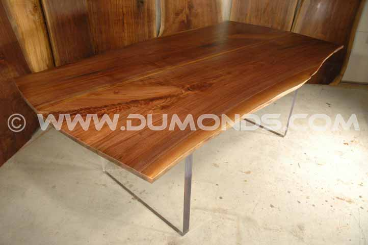 walnut natural edge table