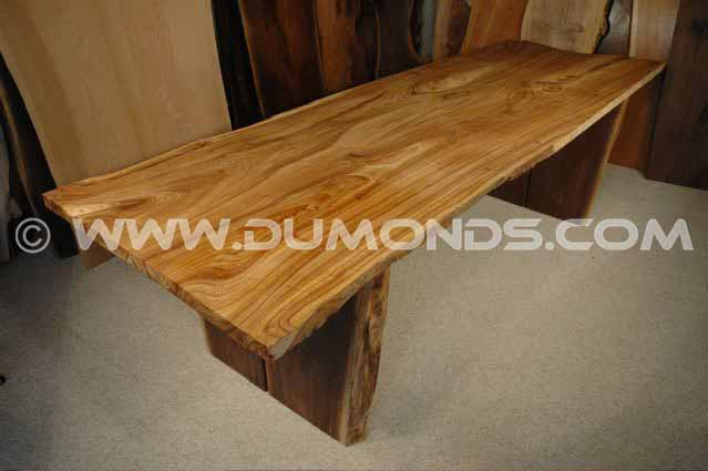Recycled 9′ Siberian Elm Slab Custom Reclaimed Wood Boardroom Table