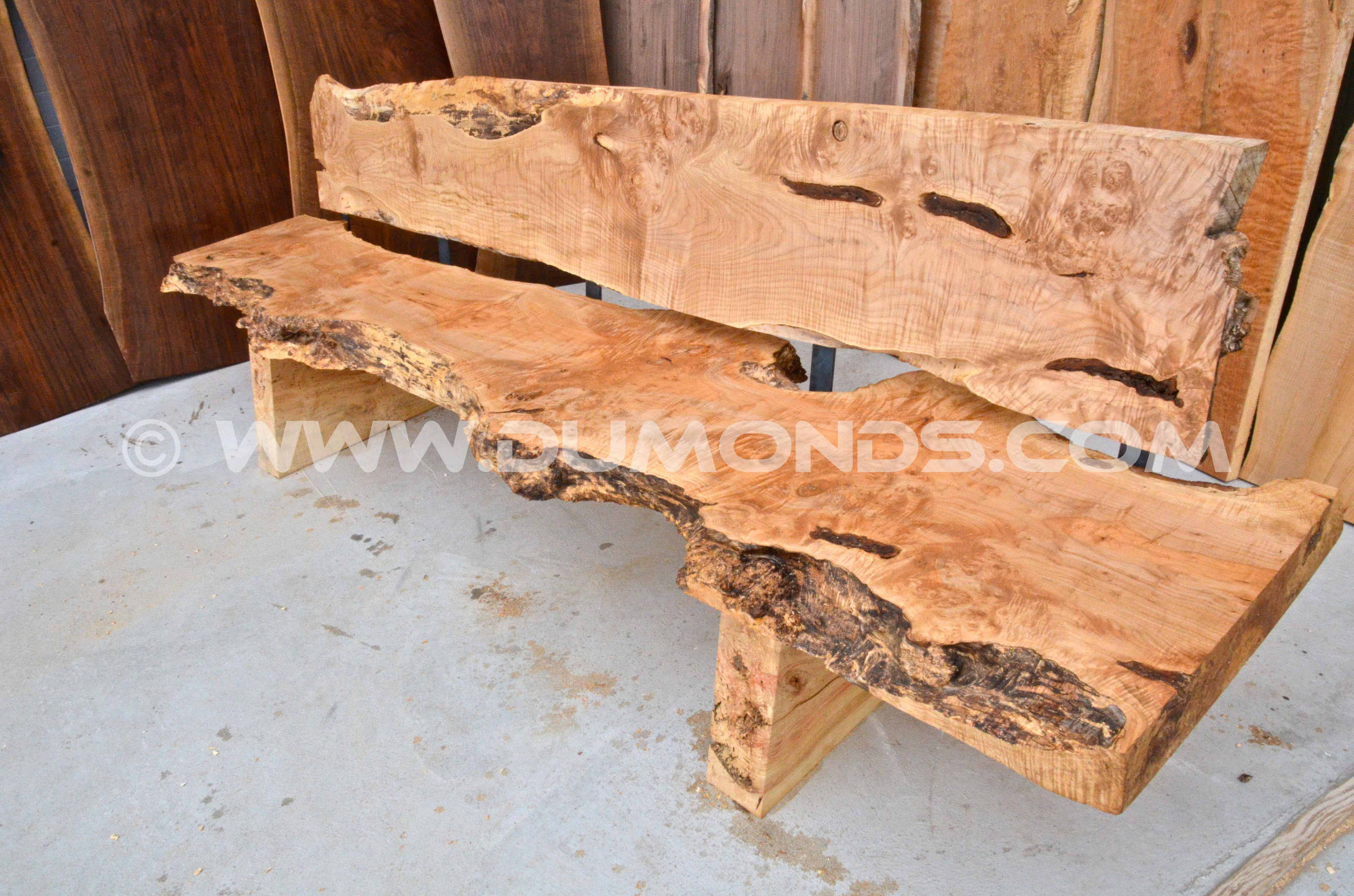 Quilted LIve Edge Bench