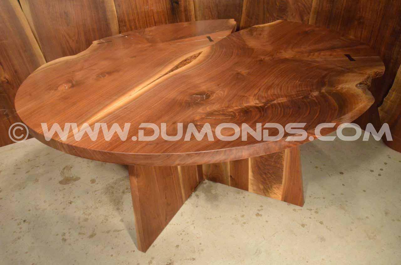walnut crotch work table