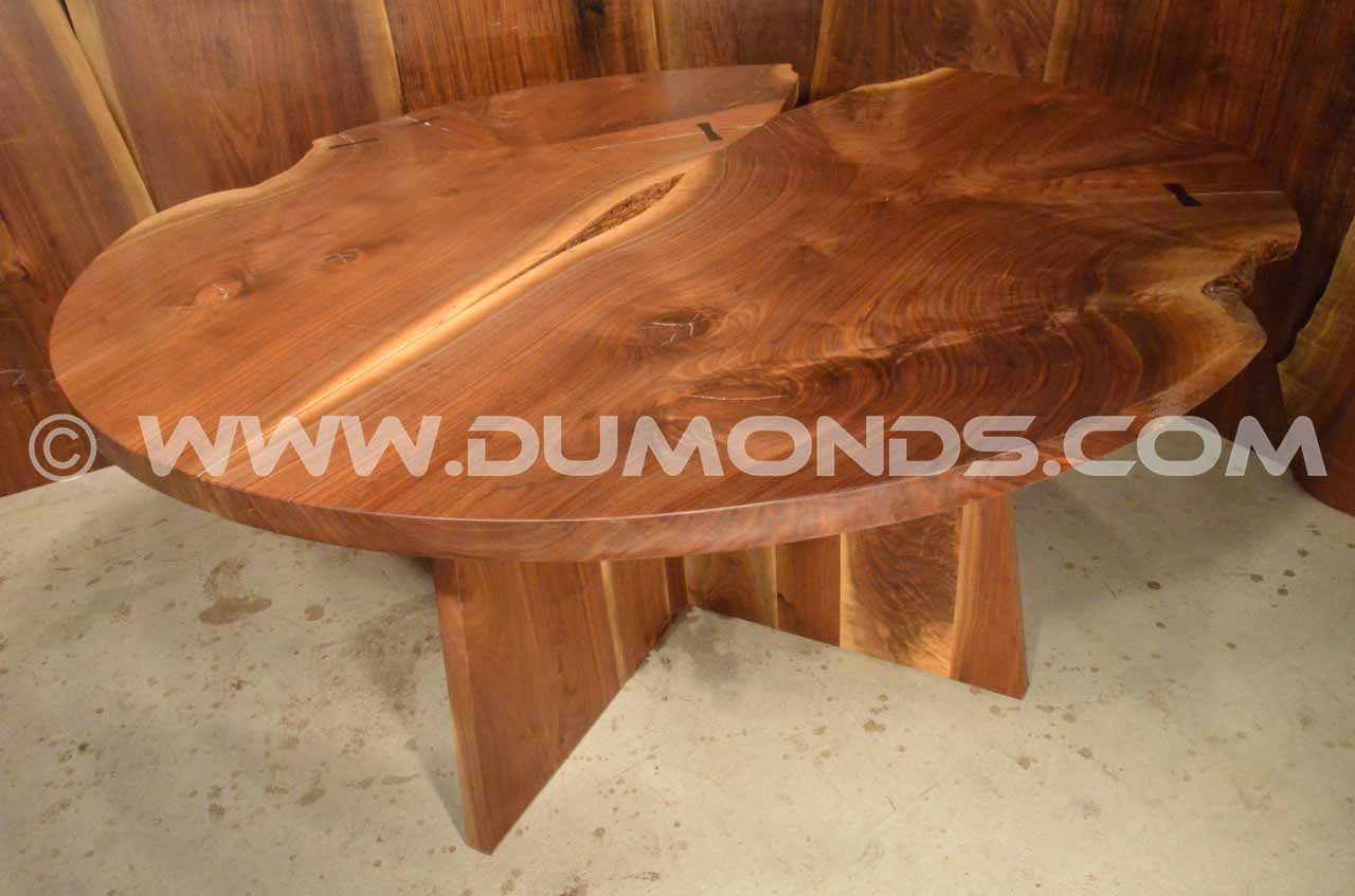 Walnut crotch conference table