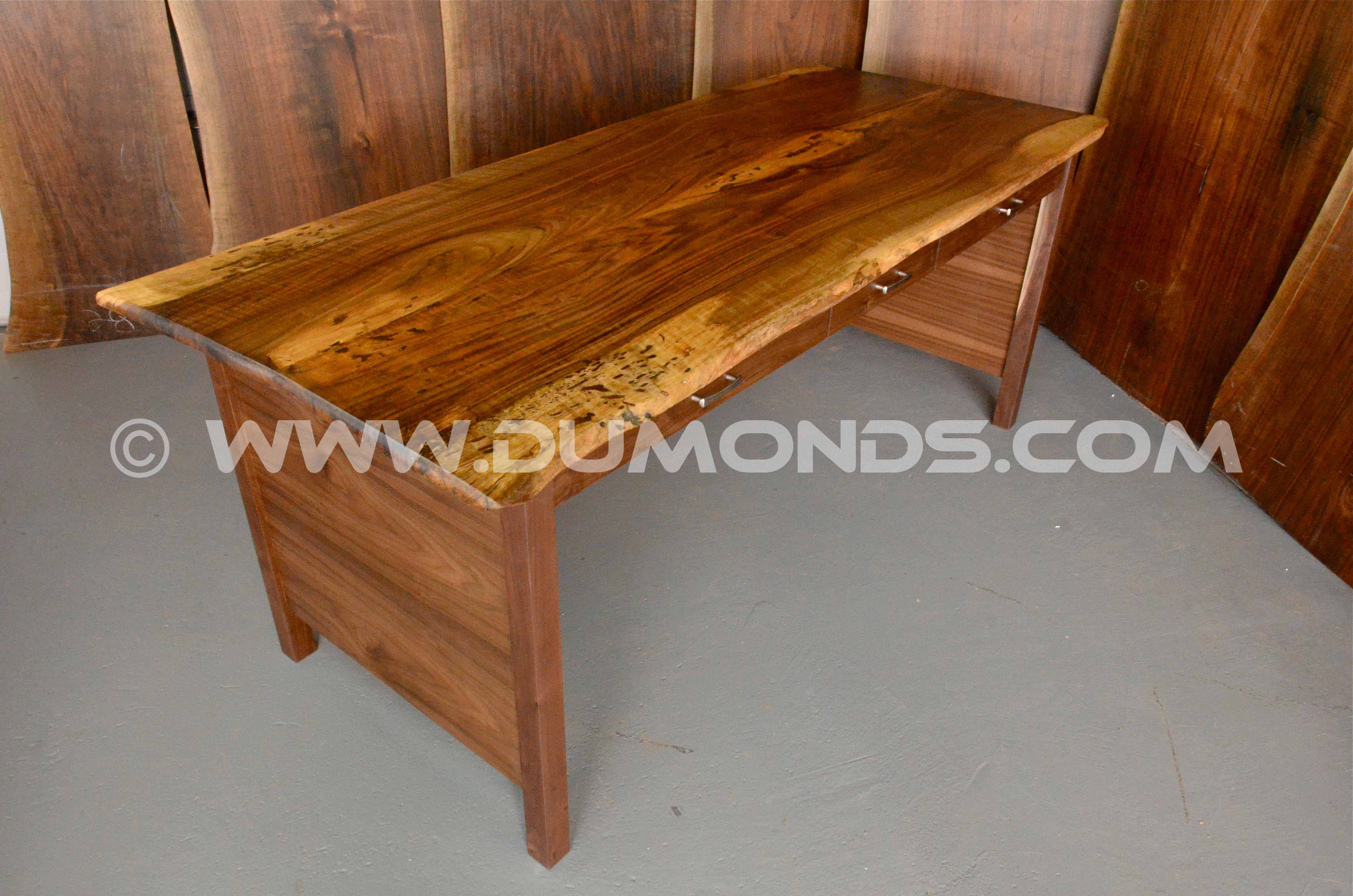 english walnut executive desk