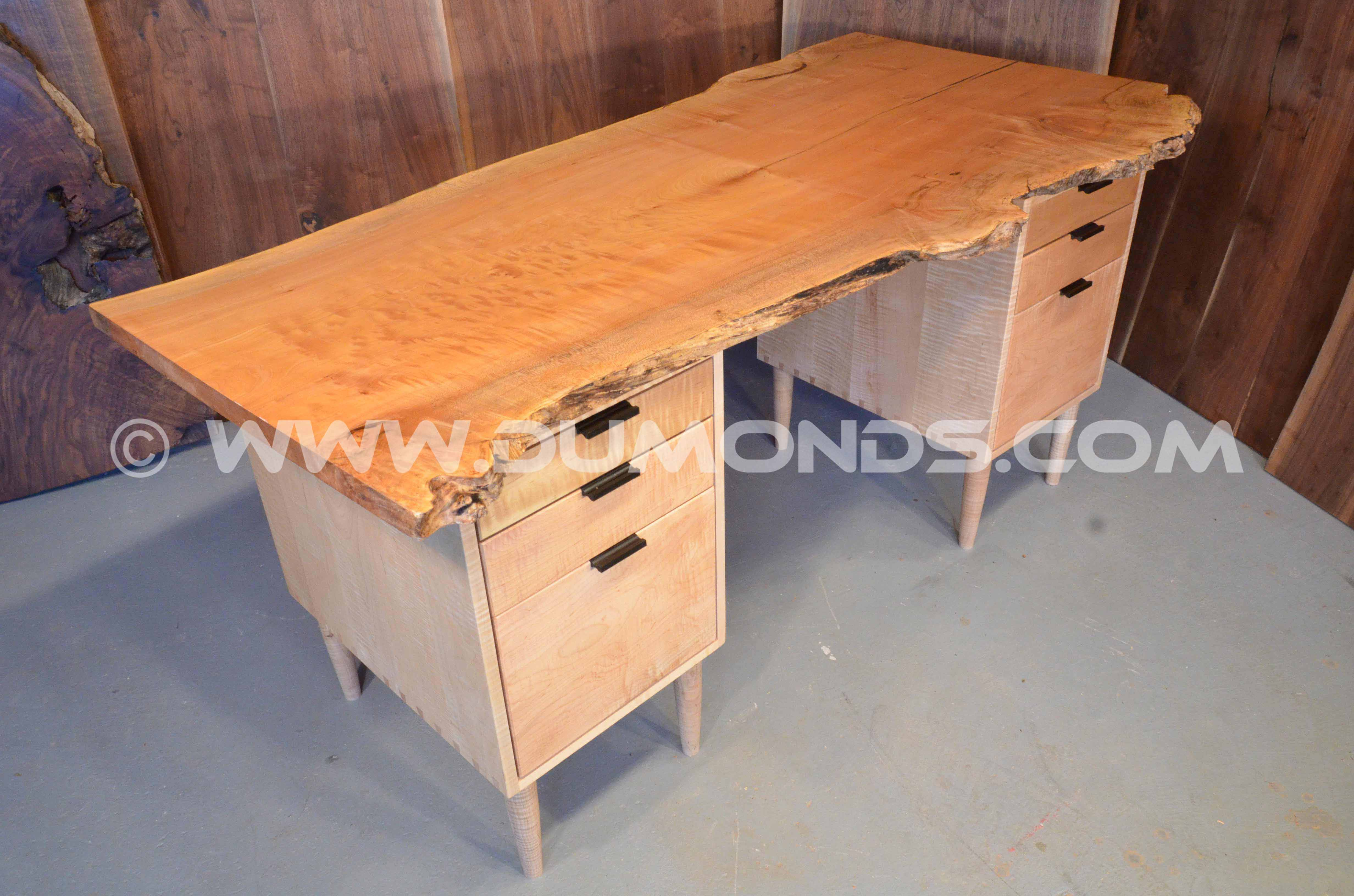 quilted maple executive desk
