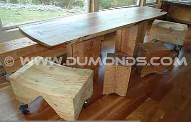 Curly Maple Dining Room Table