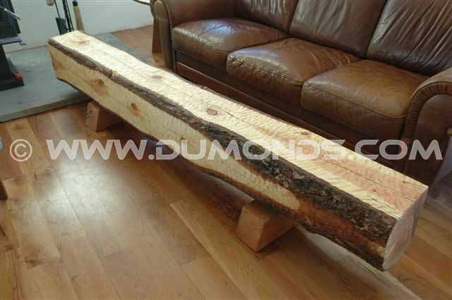 Recycled Log Block Bench