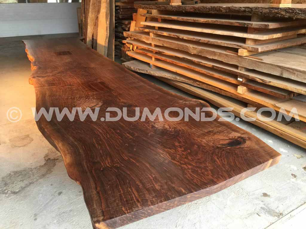 22′ Custom Natural Edge Walnut Tabletop