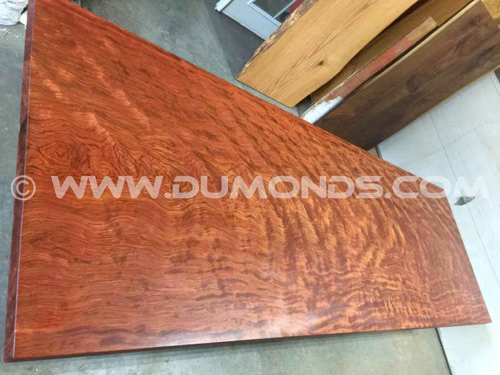 10′ Live Edge Bubinga Slab Table Top