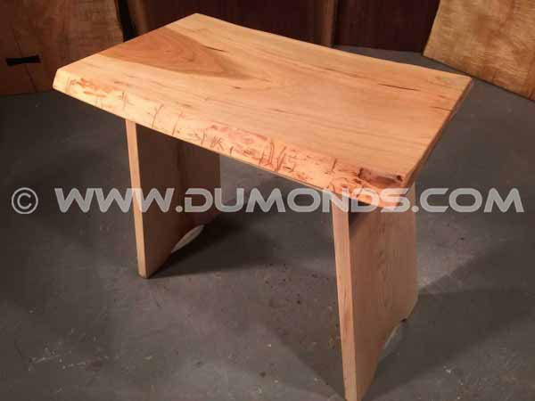 Custom Cherry Stool With Curly Maple Custom Stool