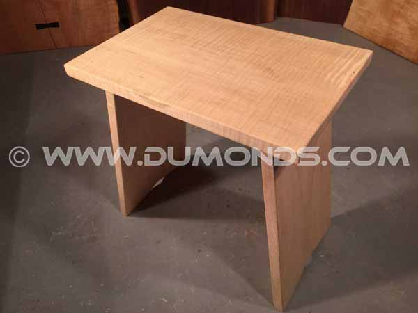 UniqueCurly Maple Stool