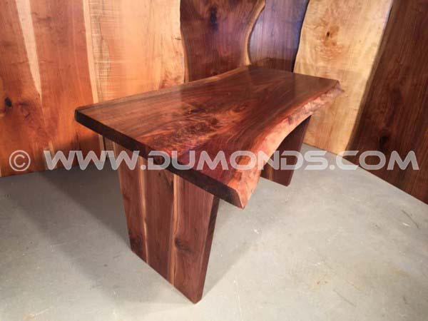 5' Curly Walnut Crotch Handmade Custom Desk