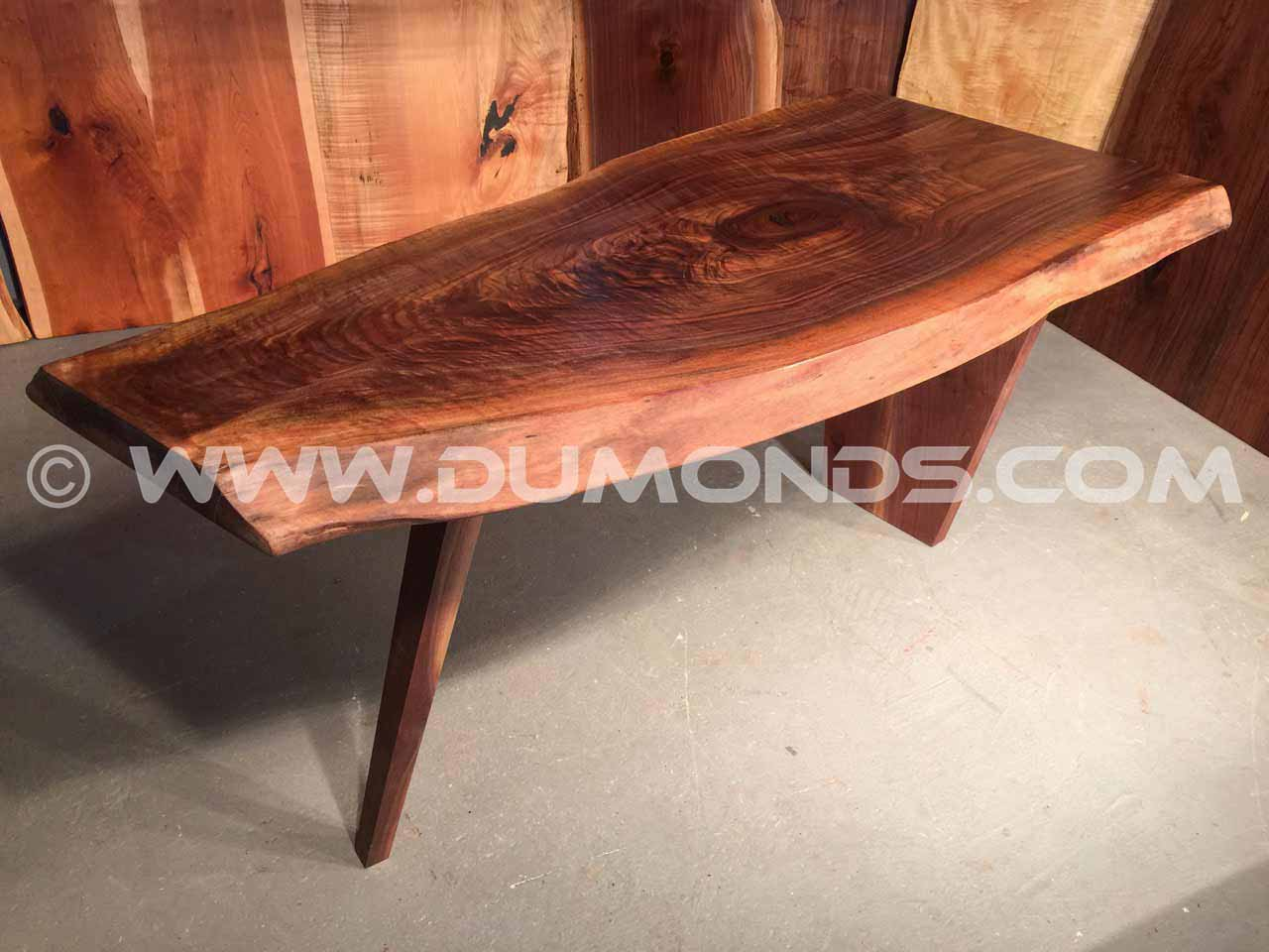 curly walnut desk