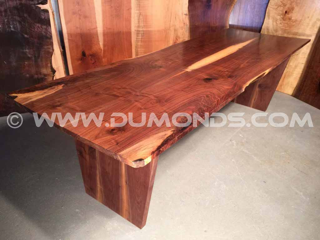 Live Edge Walnut Slab Boardroom Table