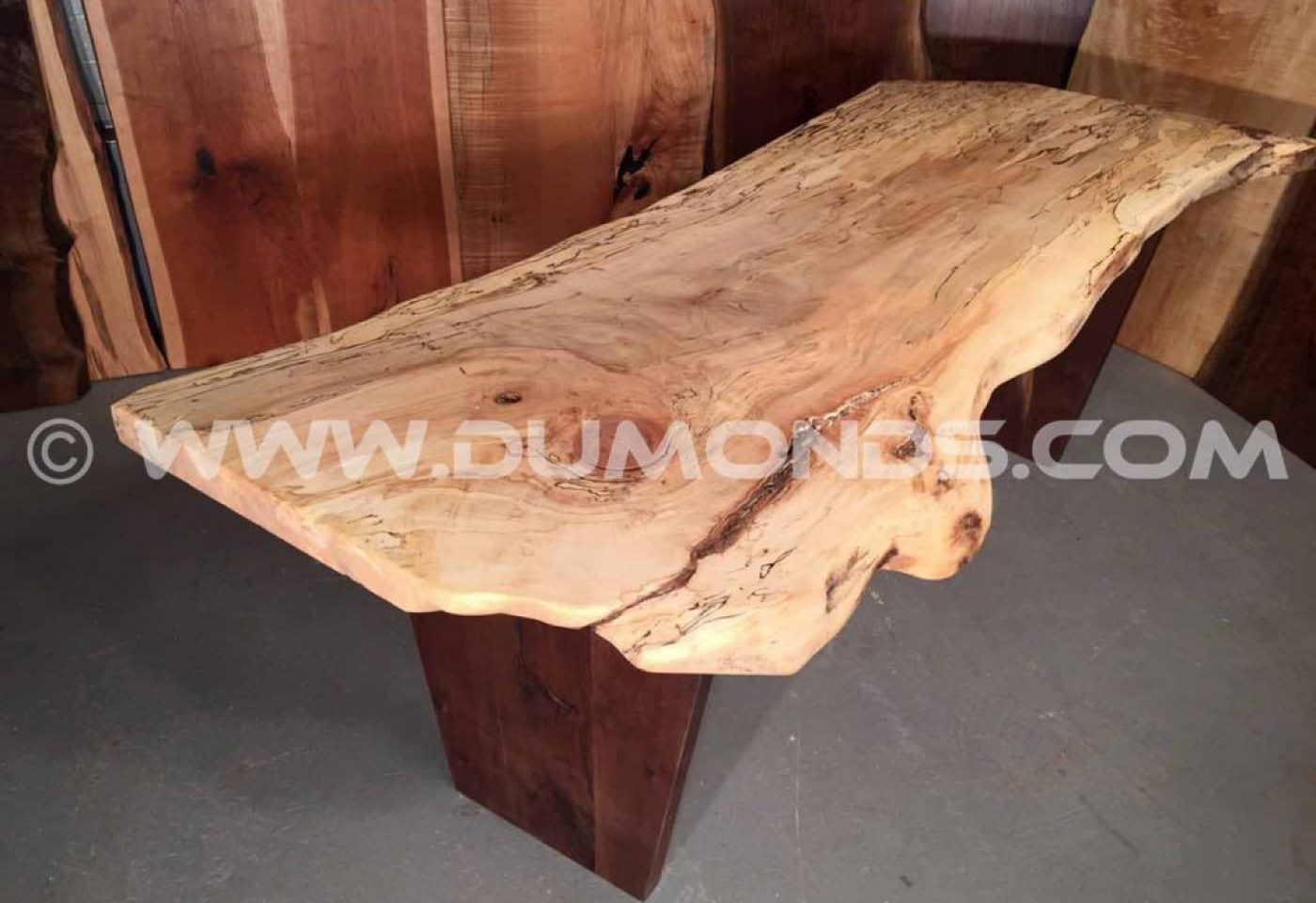SALVAGED, RECYCLED CURLY SPALTED MAPLE FROM URDAN MARYLAND TREE