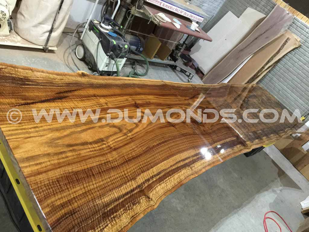 14′ Custom Natural Edge Walnut Tabletop