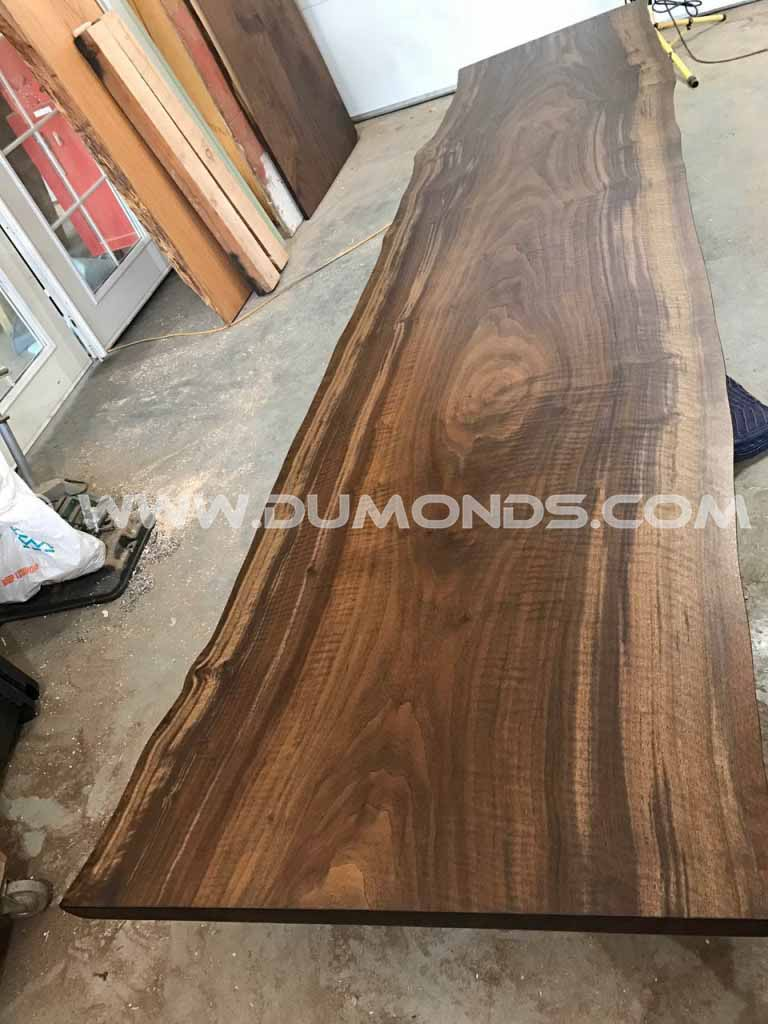 11′ Custom Natural Edge Walnut Slab Tabletop