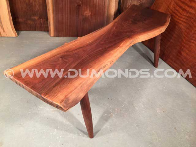 Reclaimed Walnut Slab Coffee Table