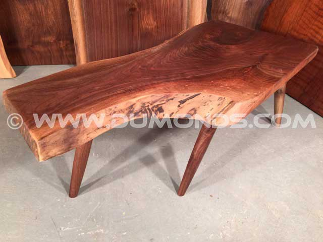 Walnut Crotch Rustic Bench