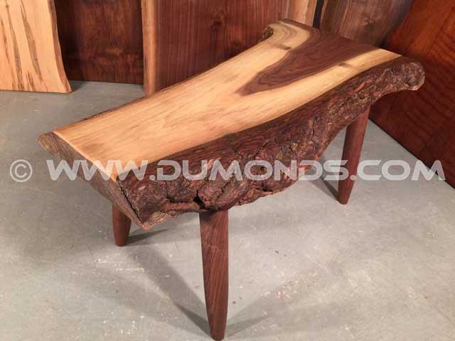 Unique Walnut Slab Coffee Table