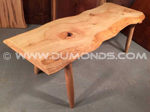 Bull Pine Natural Edge Bench