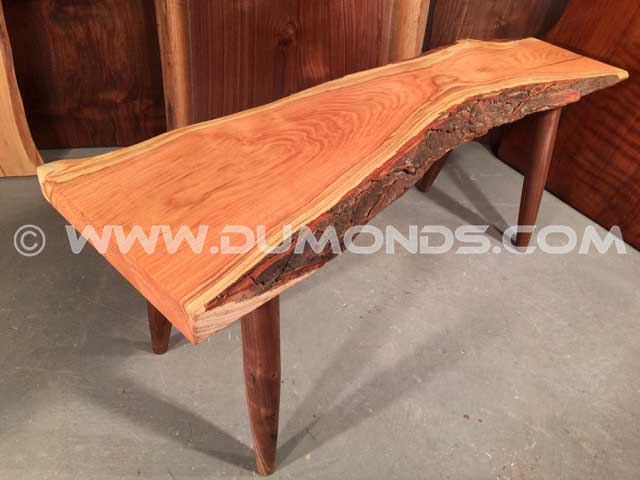 Reclaimed Locust Slab Bench