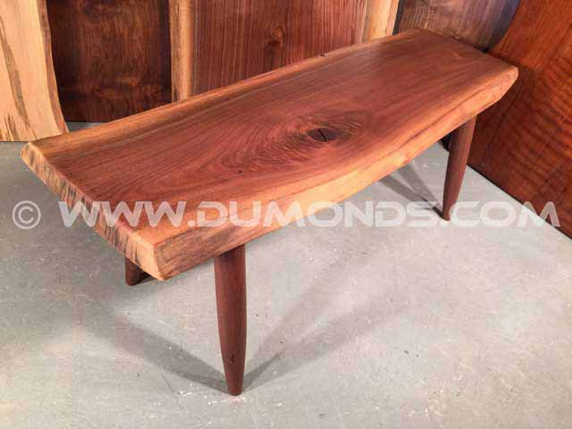 Natural Edge Walnut Bench