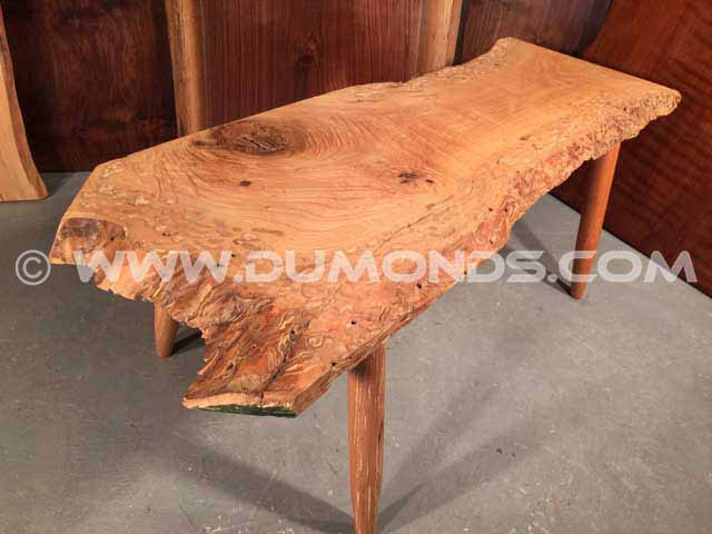Ash Slab Live Edge Coffee Table