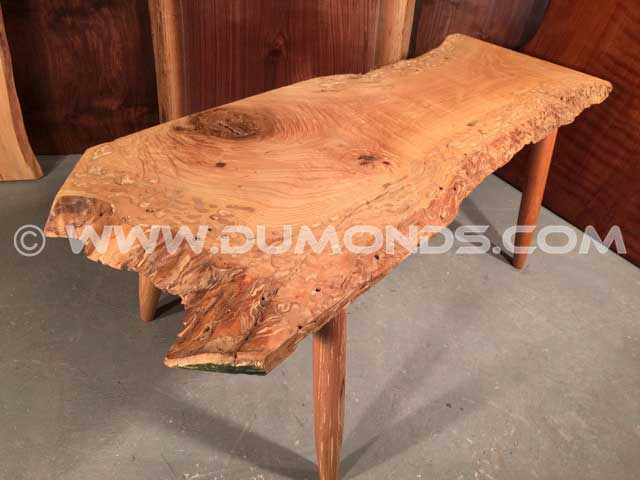 Ash Slab Rustic Coffee Table