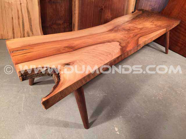Bastone Walnut Natural Edge Bench