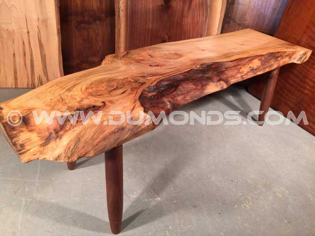 Bastone Walnut Slab Rustic Coffee Table