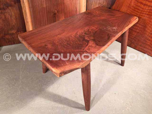 Custom Figured Walnut Bench