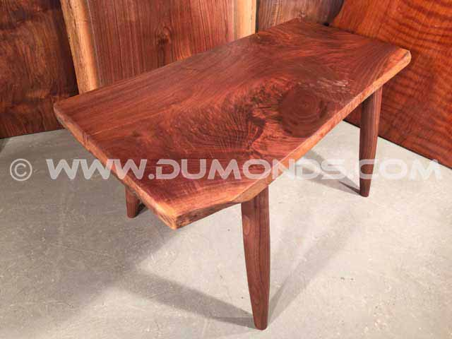 Figured Walnut Slab Coffee Table