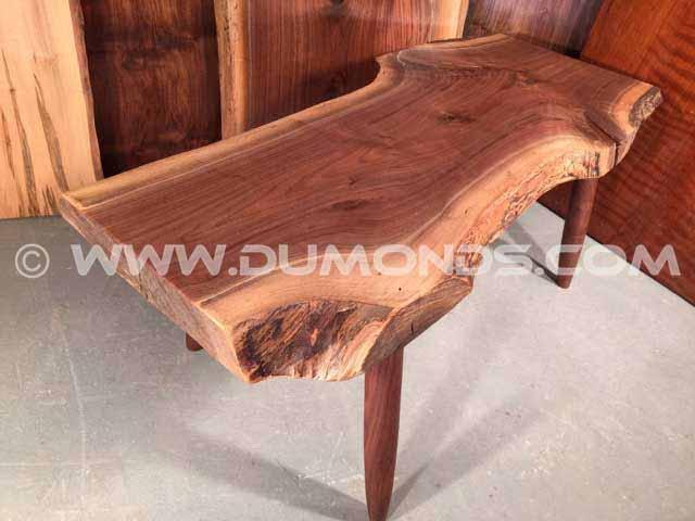Custom Slab Walnut Bench