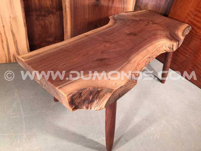Custom Slab Walnut Bench