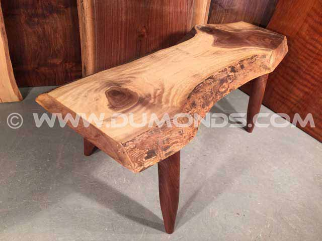Custom Walnut Slab Coffee Table