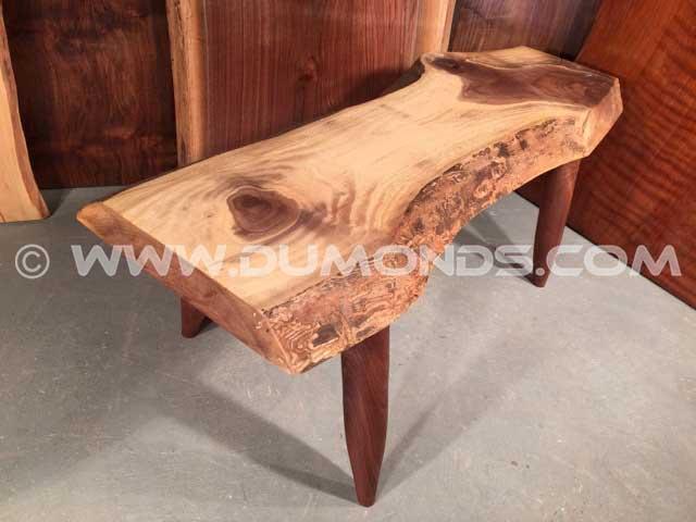 Custom Walnut Slab Coffee Table