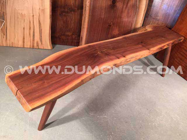 Natural Edge Walnut Bench