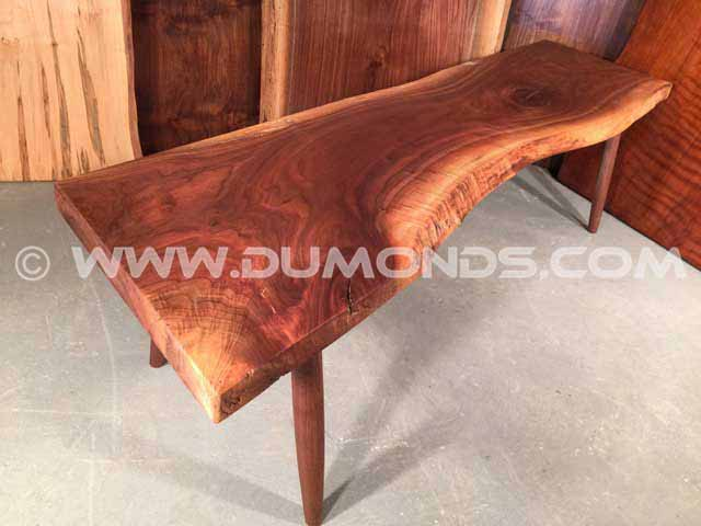 Walnut Crotch Custom Bench