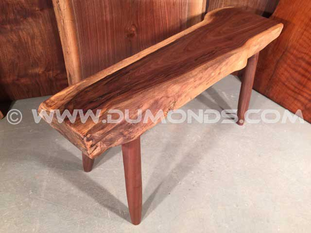 Custom Walnut Rustic Bench