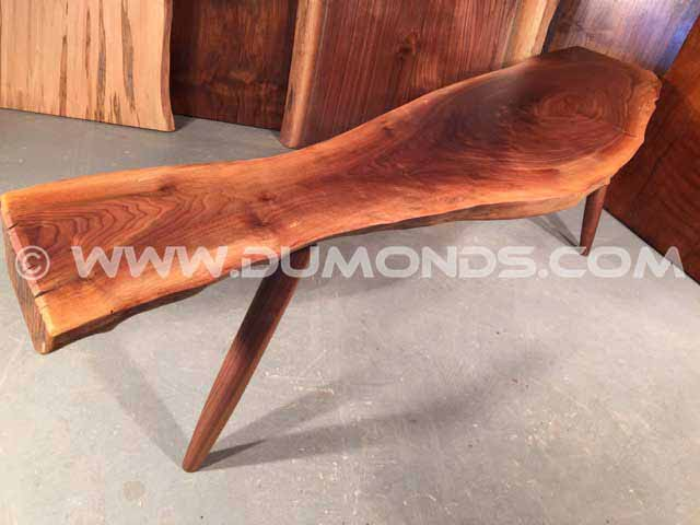 Walnut Custom Slab Bench