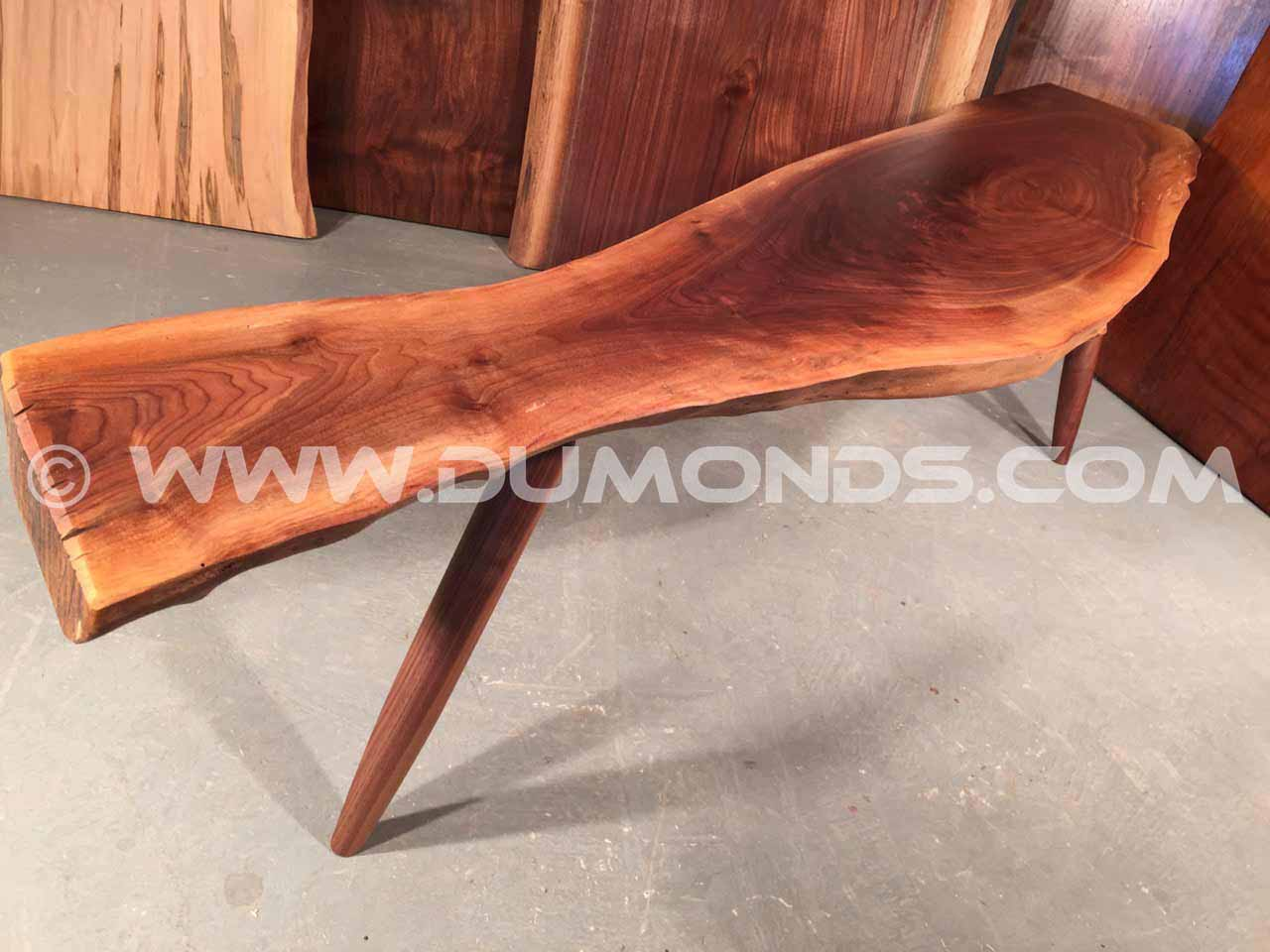 custom walnut benches