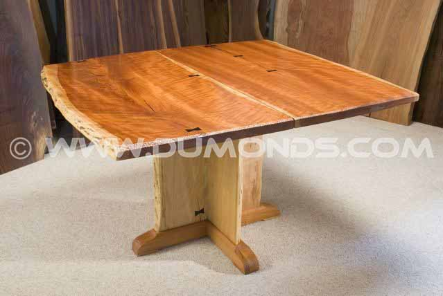 4x4' Custom Cherry Slab Dining Table