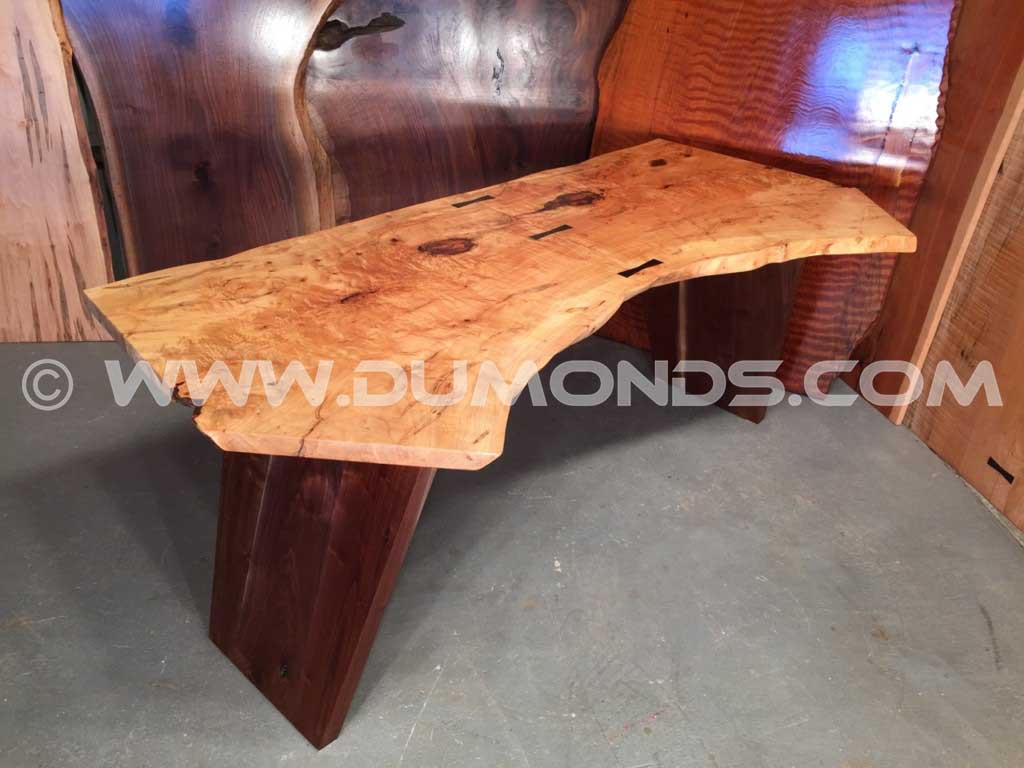 7′ Bookmatched Maple Crotch Top