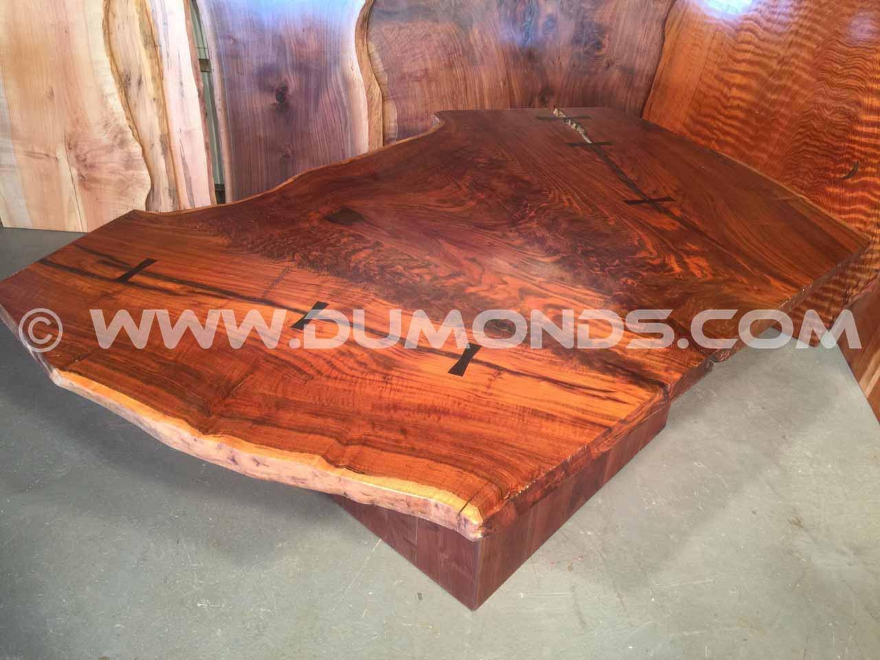 walnut crotch desk