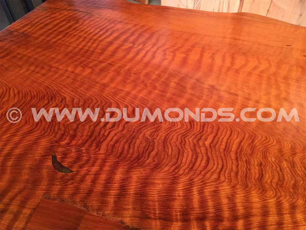 Extremely Curly Redwood Table